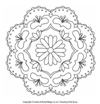 320x333 Rangoli Colouring Pages Great Lessons Ideas