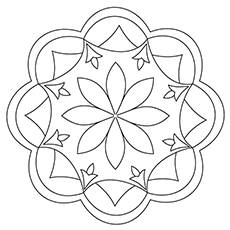 Diwali Rangoli Coloring Pages