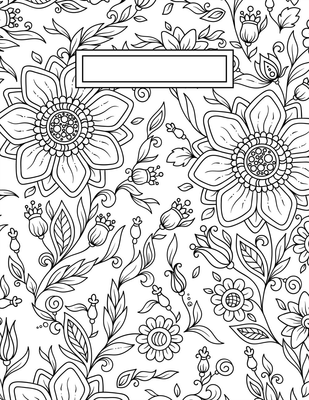 1000x1294 Back To School Binder Cover Adult Coloring Pages School Binder