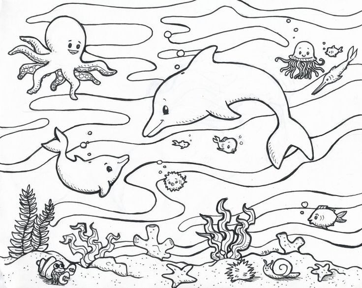 736x586 Underwater Coloring Pages Underwater Coloring Pages Underwater