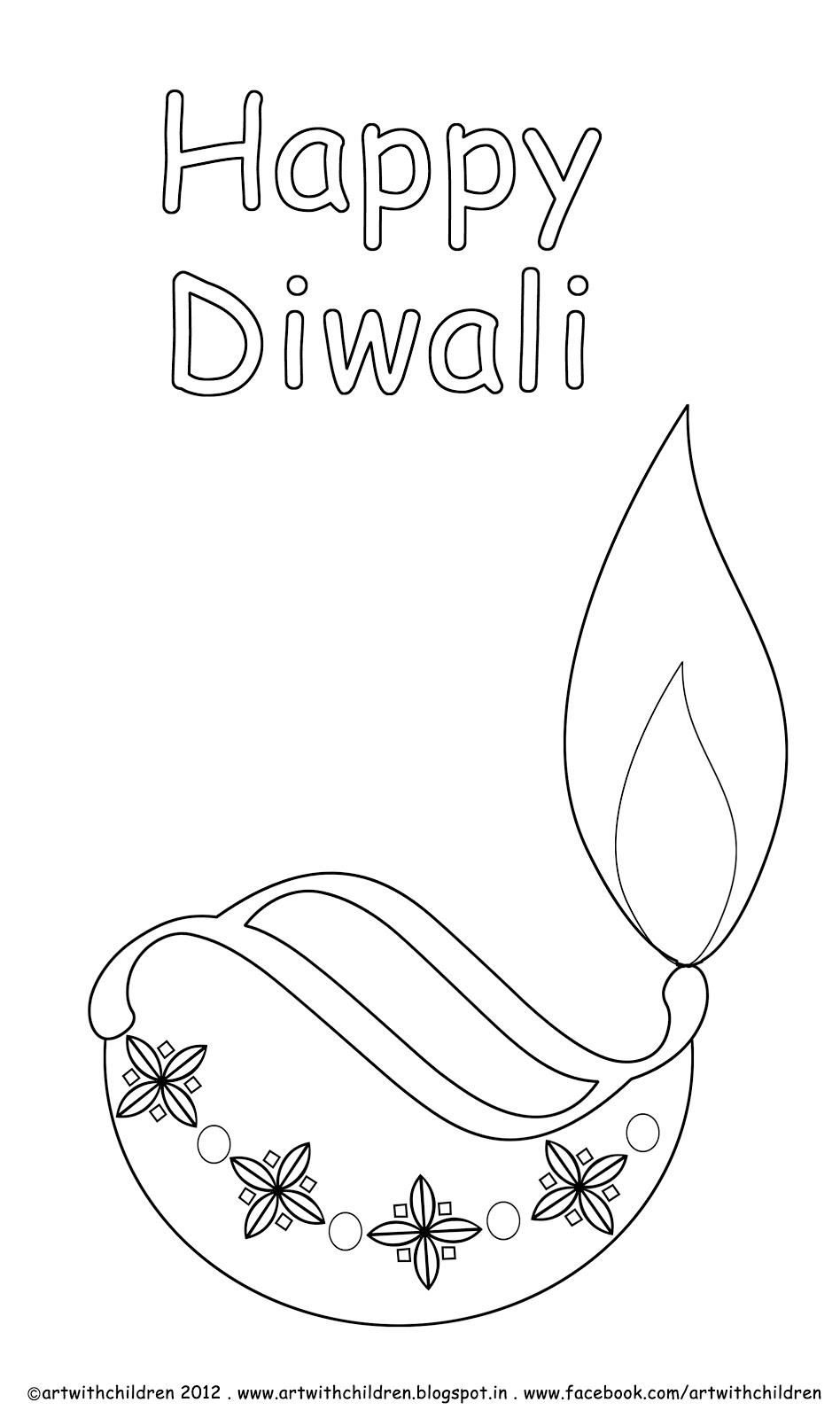 948x1600 Diwali Diya Coloring Page Dd Diwali Diya