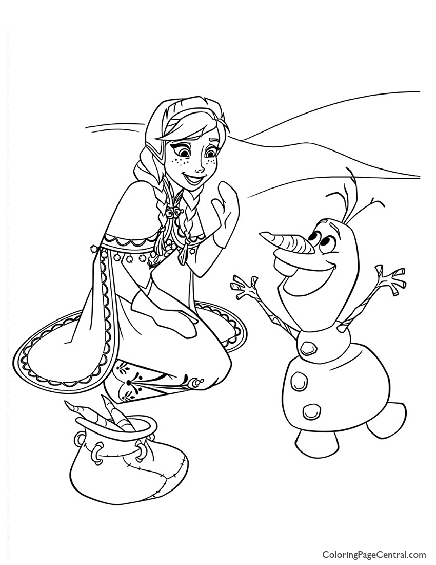 850x1100 Frozen Coloring Page Coloring Page Central