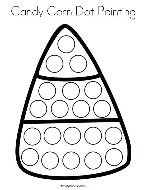 468x605 Dot Marker Coloring Pages And Candy Corn Dot Painting Coloring