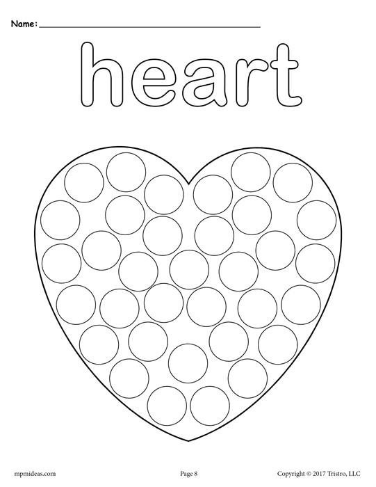 541x700 Dot Paint Printables Free Shapes Do A Dot Printables Design