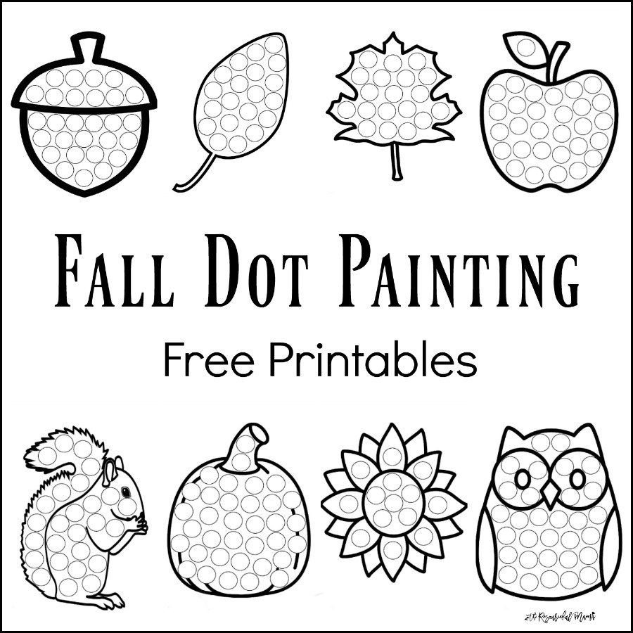 900x900 Special Free Dot Marker Coloring Pages Printables Printabl On Do