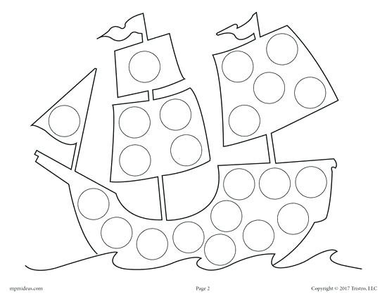 550x425 Dot Art Coloring Pages Free Mayflower Do A Dot Printable And Dot