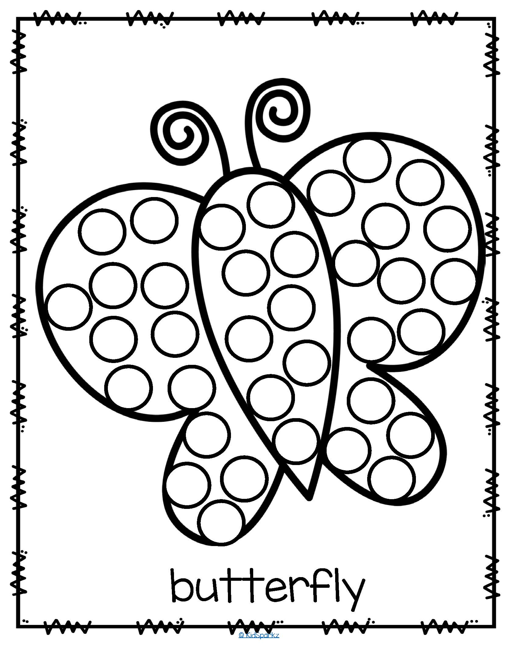 1700x2200 Dot Coloring Pages Educational Coloring Pages