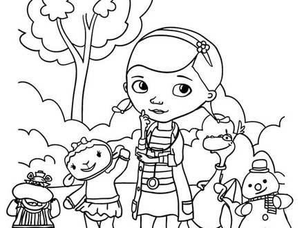 Doc Mcstuffins Lambie Coloring Pages At Getdrawings Com Free For