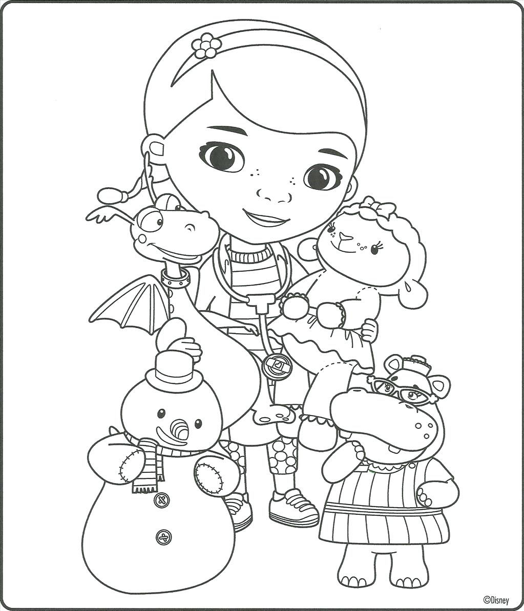 Doc Mcstuffins Lambie Coloring Pages At Getdrawings Com