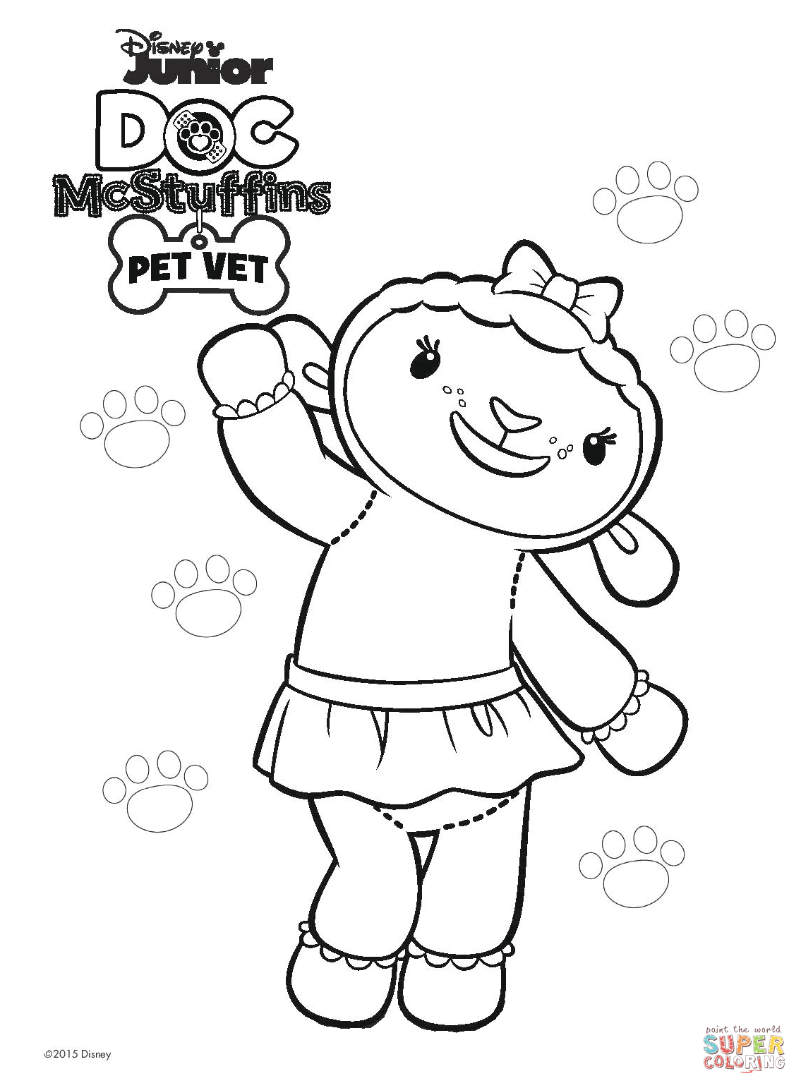 The Best Free Mcstuffin Coloring Page Images Download From