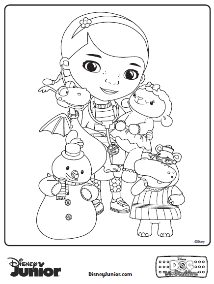 photograph about Free Doc Mcstuffins Printable titled Document Mcstuffins Printable Coloring Webpages at