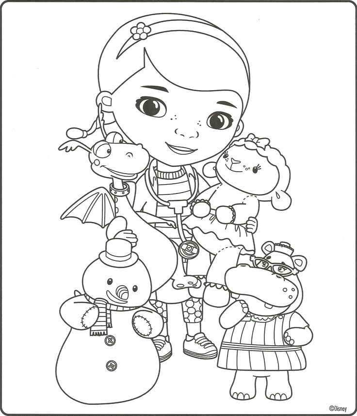 Doc Mcstuffins Printables Coloring Pages