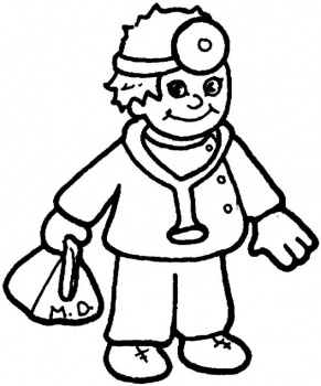 Doctor Coloring Pages For Preschool