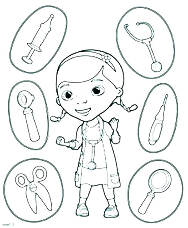 Doctor Coloring Pages For Preschool At Getdrawings Com Free For