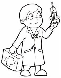 232x300 Female Doctor Coloring Pages Female