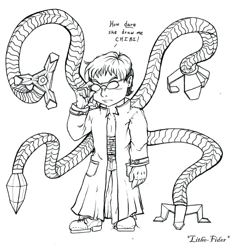 Doctor Octopus Coloring Pages