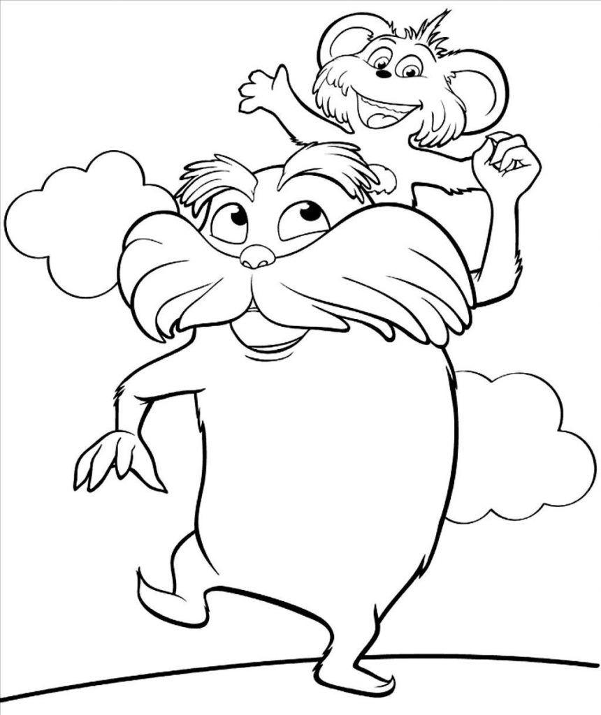 860x1024 Awesome Dr Seuss Characters Coloring Pages High