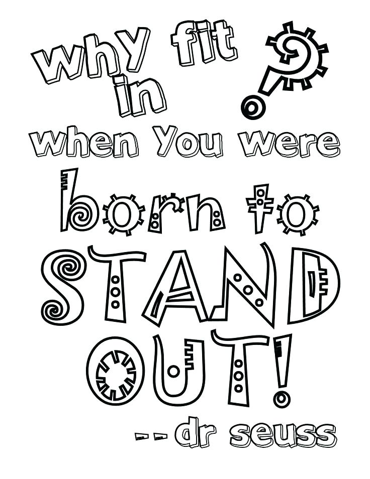 736x954 New Dr Seuss Coloring Pages Printable Or Footage Quotes To Print