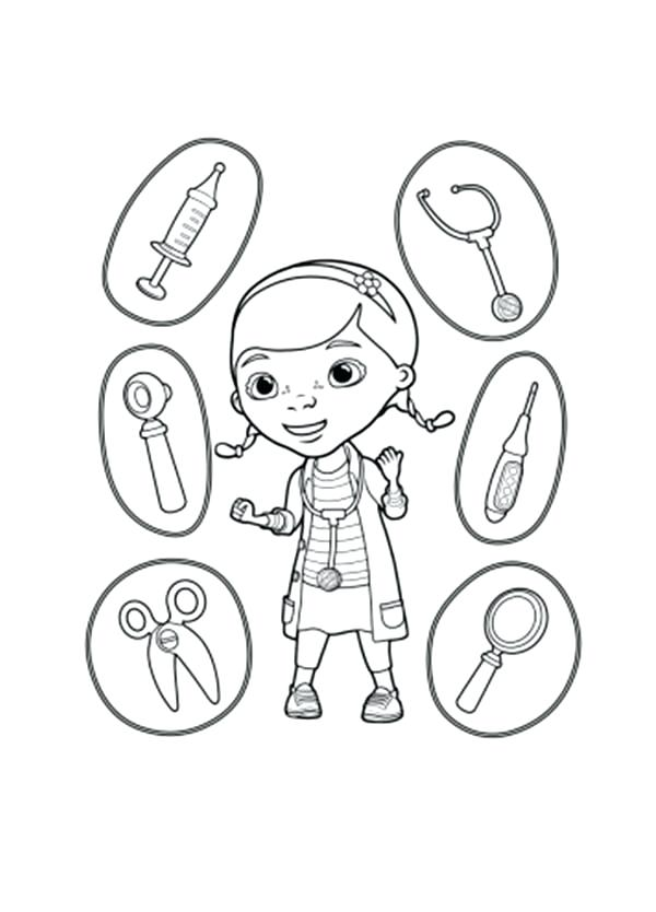 Doctor Tools Coloring Pages