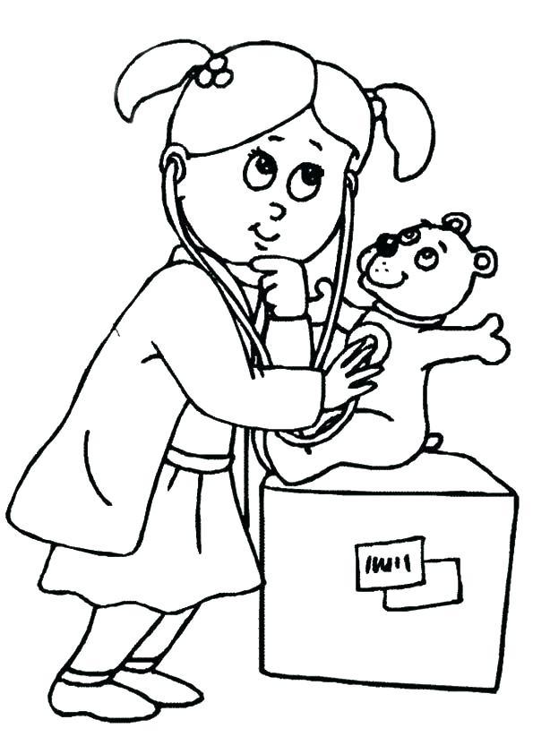 Doctor Tools Coloring Pages At Getdrawings Com Free For Personal