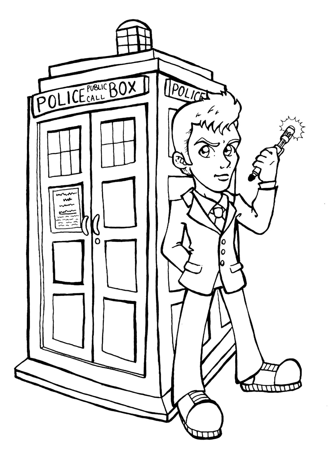 Doctor Who Tardis Coloring Pages At Getdrawings Com Free