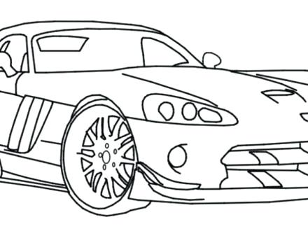 440x330 Free Dodge Challenger Coloring Pages Charger Viper Police Car