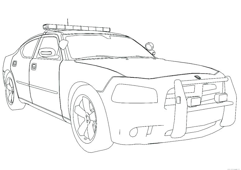 775x547 Dodge Charger Police Car Coloring Pages Deepart