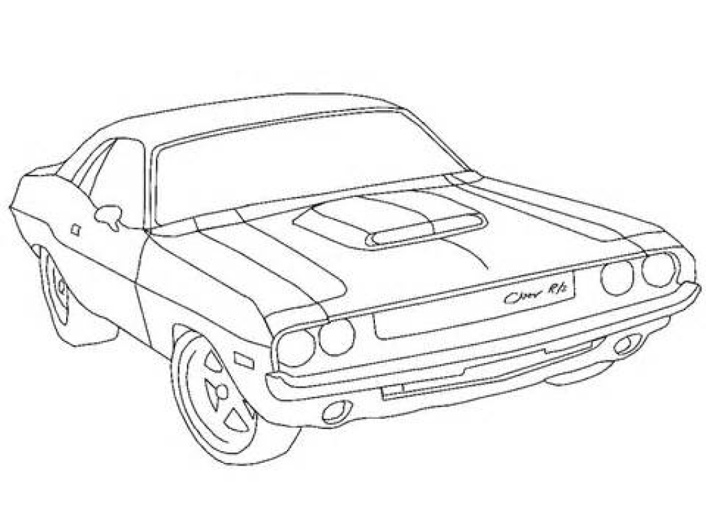 1024x768 Dodge Charger Coloring Pages