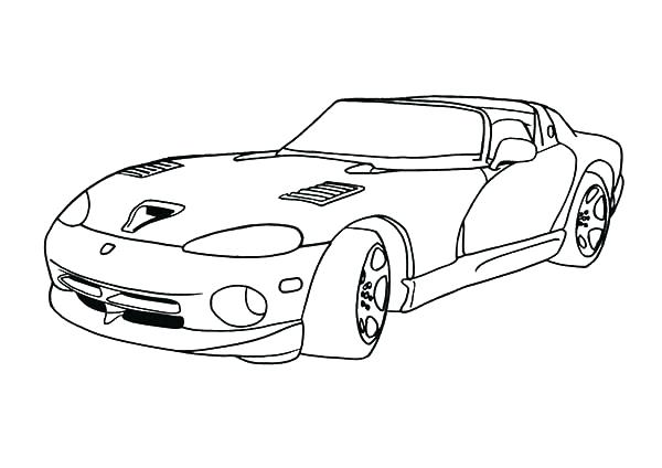 600x424 Dodge Viper Coloring Pages Dodge Charger Coloring Pages Dodge