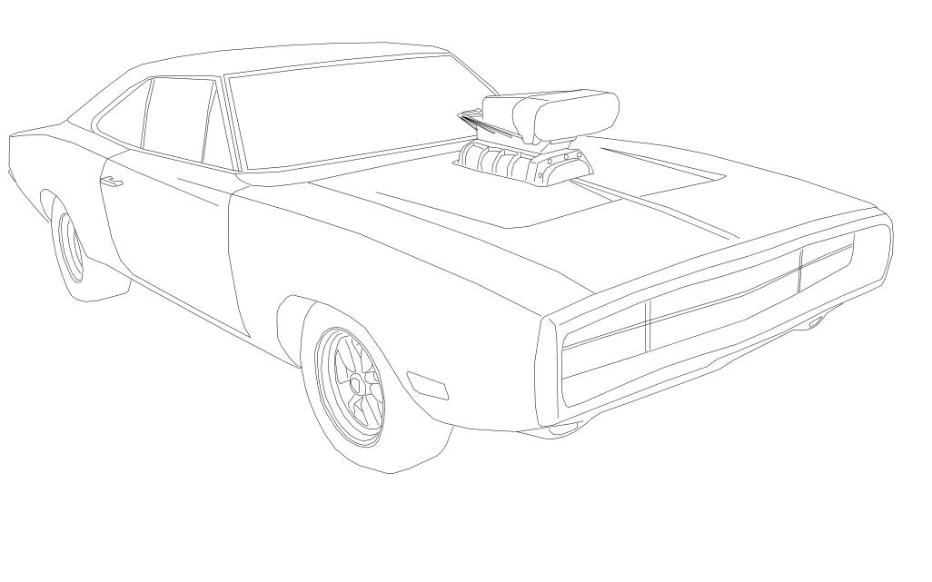 1026x641 Fast And Furious Dodge Charger Coloring Pages