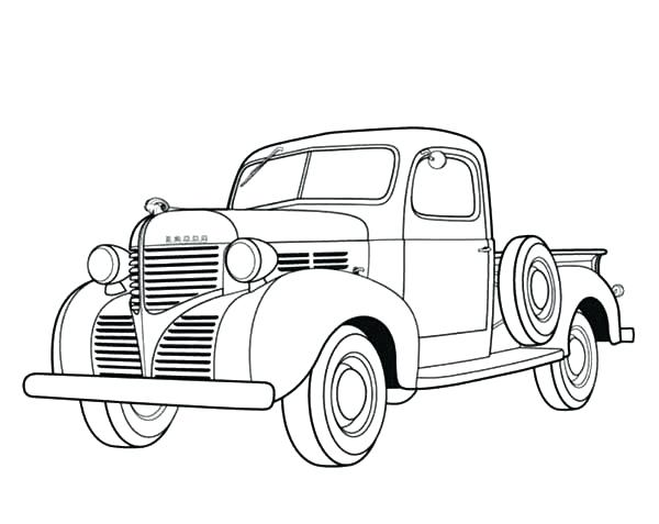 600x477 Dodge Pickup Antique Car Coloring Pages Best Place To Color Dodge
