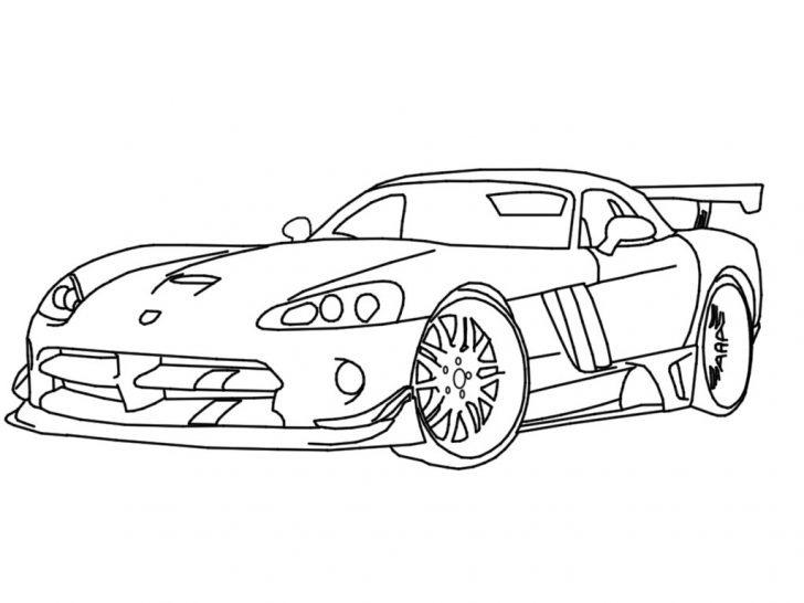 728x546 Dodge Viper Coloring Pages
