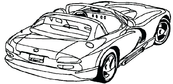 600x293 Hellcat Coloring Pages Dodge Challenger Coloring Pages Viper