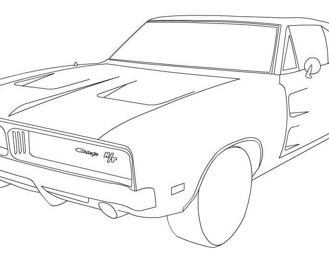 678x538 Chargers Coloring Pages Dodge Charger Rt Coloring Page Free