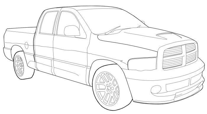 700x384 Dodge Ram Srt Coloring Page Teacher Stuff Dodge