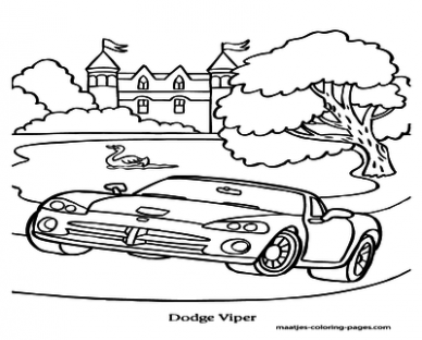 388x312 Dodge Viper Coloring Pages These
