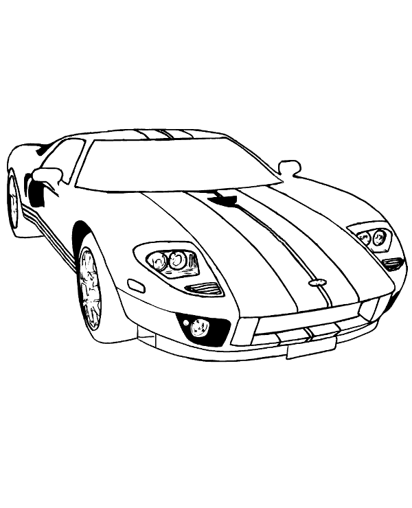 600x740 Dodge Viper Free Coloring Page To Print Or Download For Free