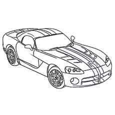 230x230 Muscle Dodge Viper Car For Muscle Car Coloring Pages