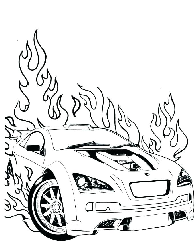 687x844 Fast And Furious Coloring Pages