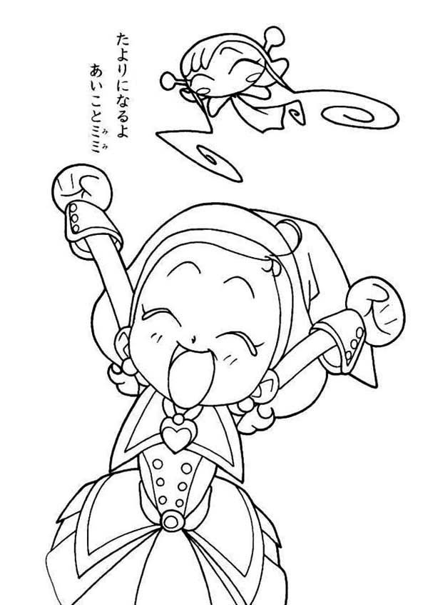 600x847 Magical Doremi Having Fun With Dodo The Fairy Coloring Pages