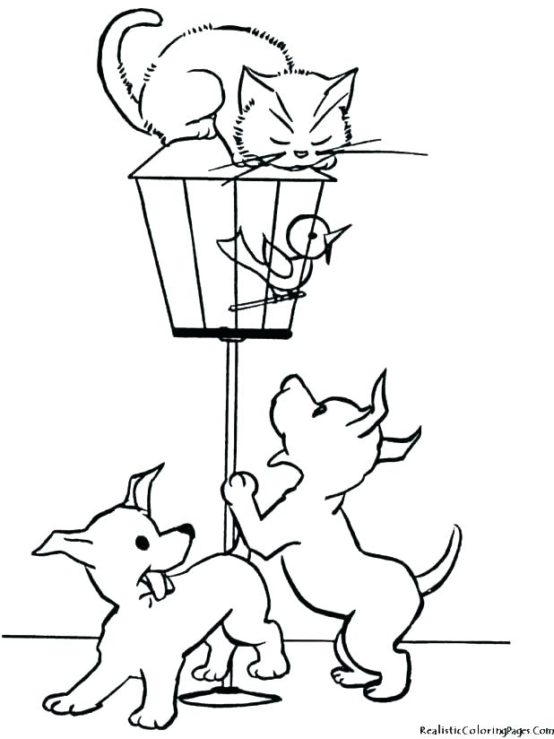 618x824 Coloring Pictures Of Dogs And Cats Realistic Dog Coloring Pages