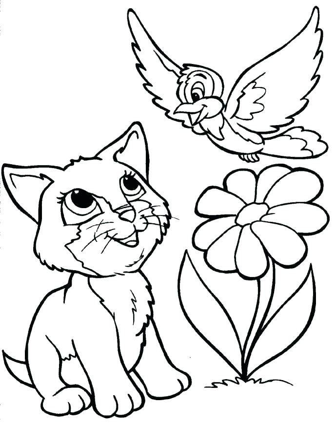 687x874 Cat And Dog Coloring Pages Dog And Cat Coloring Pages Printable