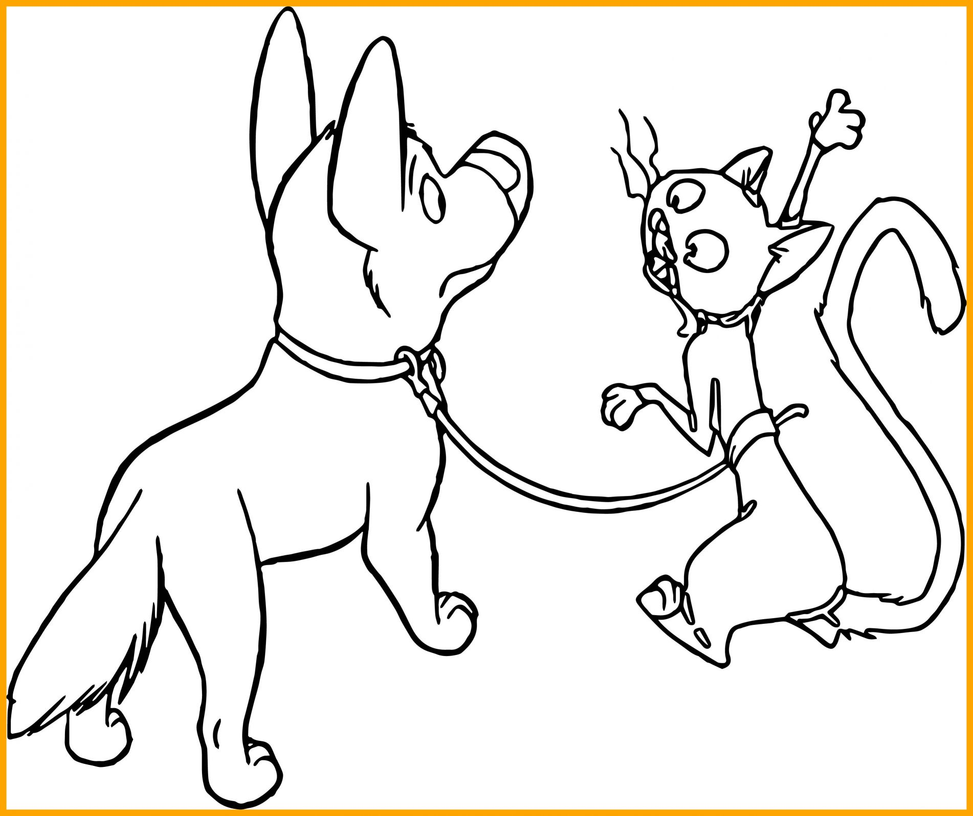 1902x1596 Dog And Cat Coloring Pages Printable