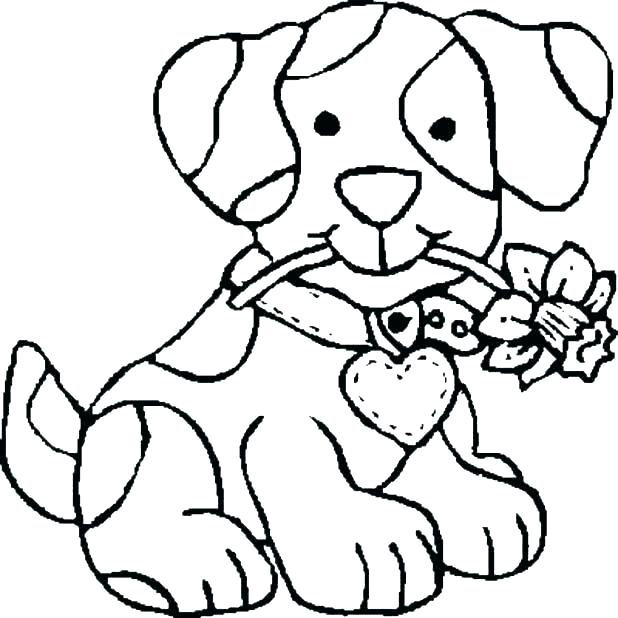 618x618 Dog Coloring Pages Coloring Pages Free Printable Dog Coloring