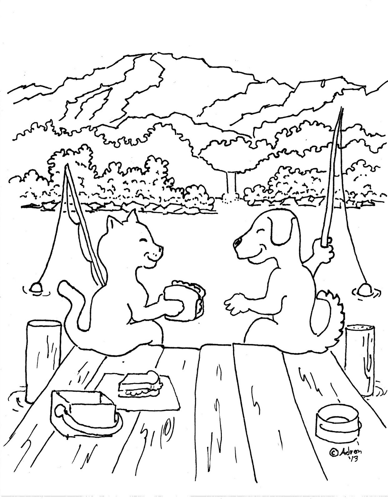 1242x1600 Http Grupomagma Net Images Dogs And Cats Coloring Pages