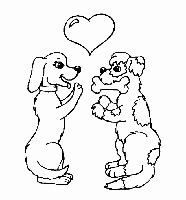 Dog Bone Coloring Page
