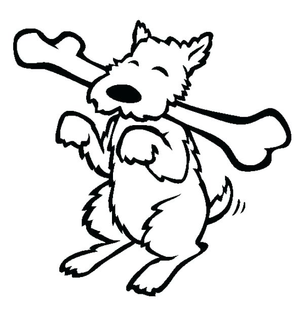 600x612 Dog Bone Coloring Page Dog Bone Coloring Page Happy Dog Eating