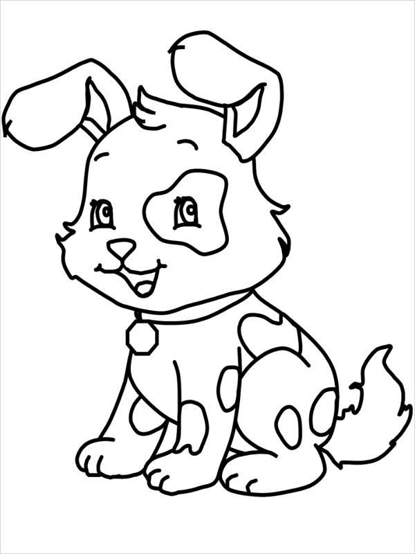 600x800 Dog Coloring Pages Free Premium Templates