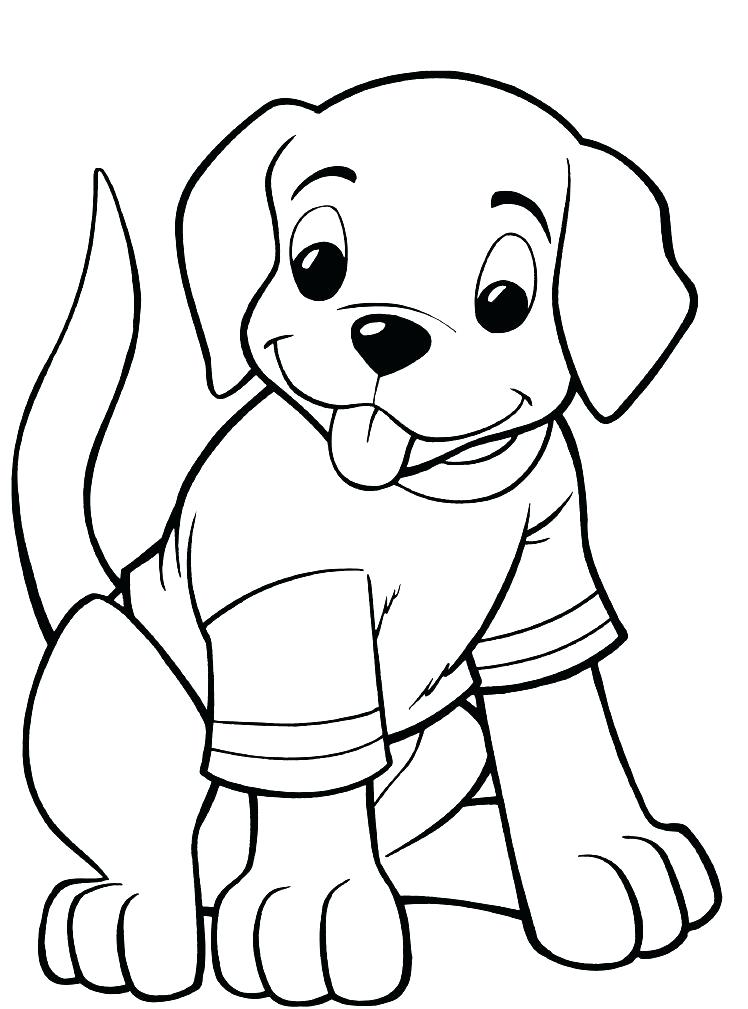 748x1009 Baby Dog Coloring Pages Professional