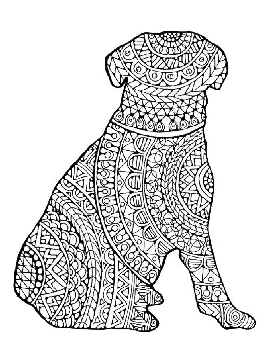 Dog Coloring Pages Adults